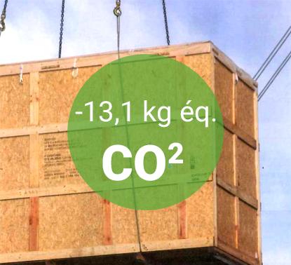 Caisse en bois = -13,1kg éq. CO2