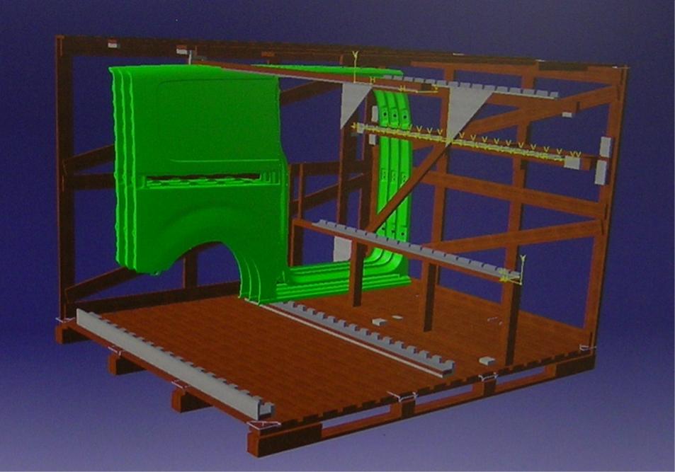 Caisse 3D conçue sur mesure pour l'industrie automobile par NS Gerbois